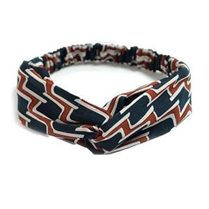 Accessories - Blue & Red Retro-inspired Twist Headband